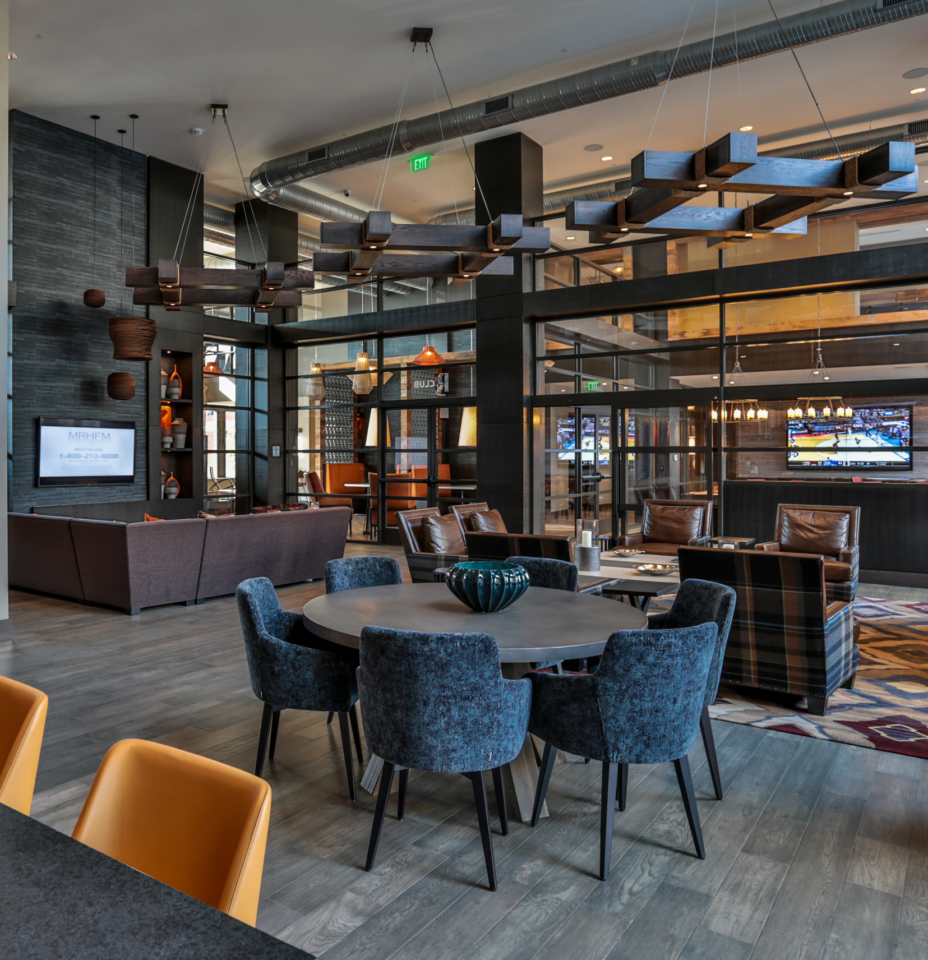 Remy clubroom with TVs and seating