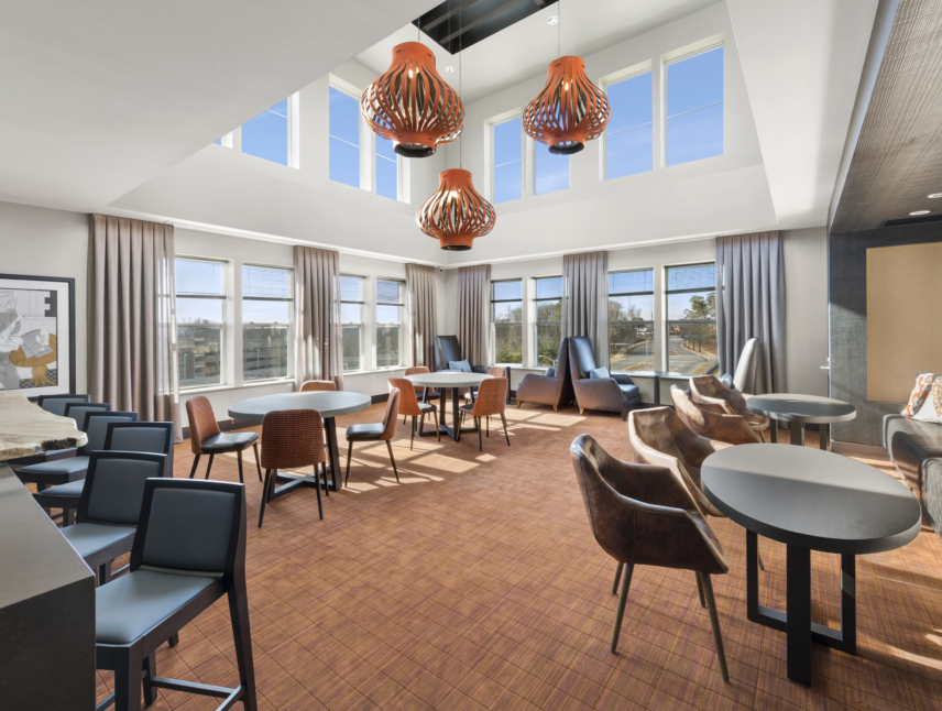 Remy clubroom with table seating